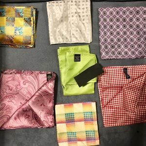A week's worth of new or almost new pocket squares